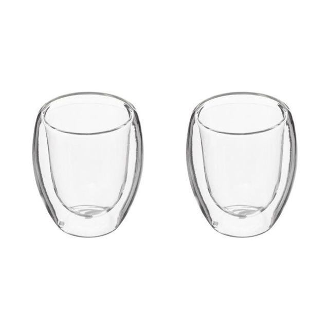 paris prix lot de 2 tasses caf double paroi 10cl transparent pas cher achat vente. Black Bedroom Furniture Sets. Home Design Ideas