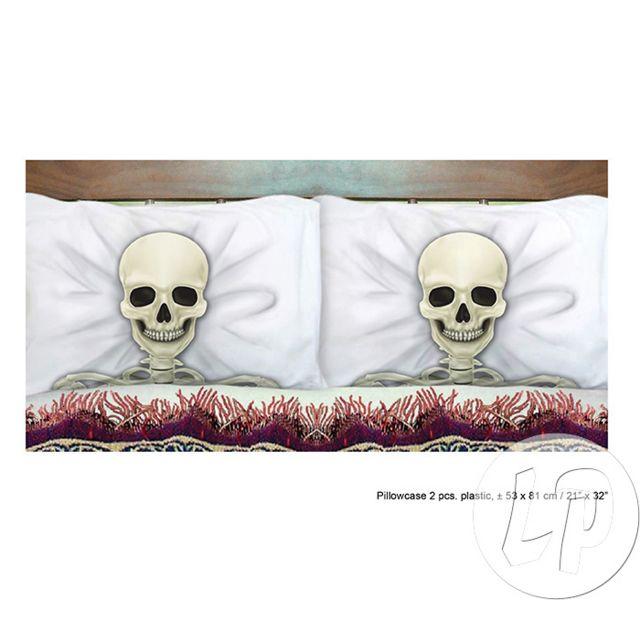 Coolminiprix Lot de 12 - Lot de 2 taies d'oreiller ou coussin squelettes 53x81cm - Qualité Ce produit est vendu par lot de 12 pièces.Même si sur la photo il y a plusieurs pièces, vous recevrez 12 unités - Lot de 12 - 1x lot de deux taies d'oreiller squele