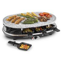 KLARSTEIN - Steaklette Raclette-grill 1500 W Pierre naturelle 8 personnes