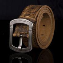 a6b4d54cc044 Wewoo - Ceinture Boucle de cuivre Hommes en cuir Vintage Handmade en ...