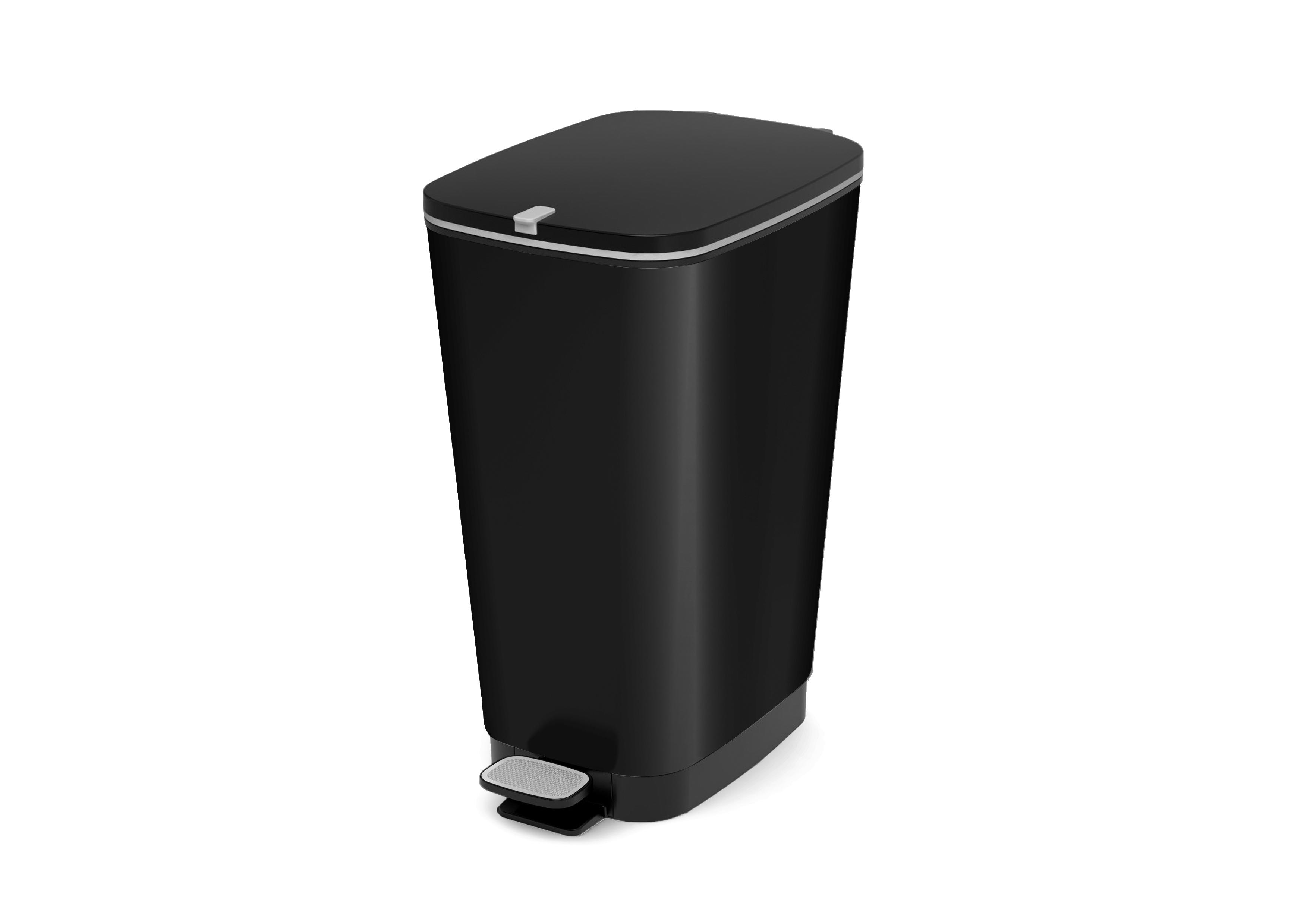 Carrefour kis poubelle à pédale chic bin style l noir