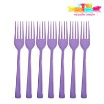 Vaisselle-jetable - 50 fourchettes jetables plastique violet