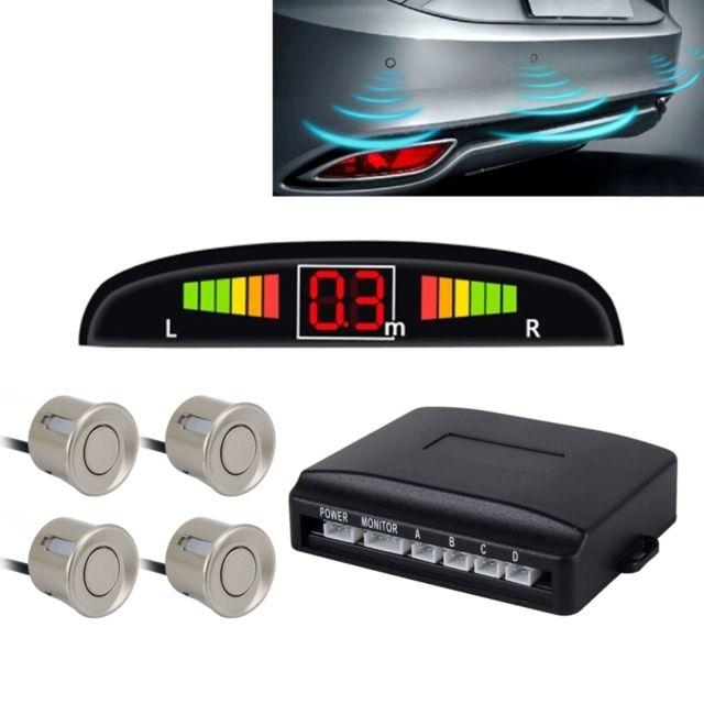 wewoo radar de recul gris syst me de de invers de voiture buzzer premium quality 4 capteurs. Black Bedroom Furniture Sets. Home Design Ideas