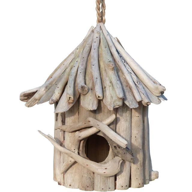 les animaux de la fee nichoir oiseau du ciel bois flott 26 cm pas cher achat vente. Black Bedroom Furniture Sets. Home Design Ideas