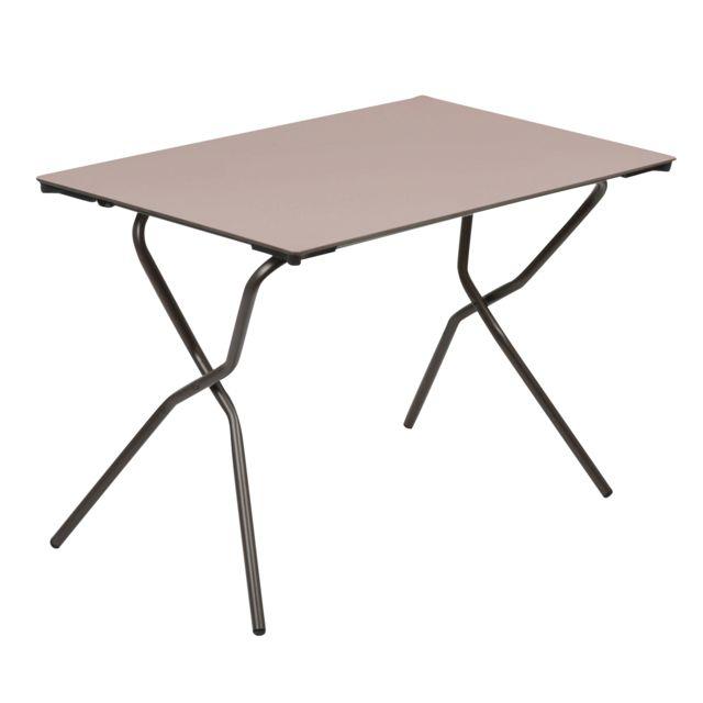 Lafuma - Table de jardin rectangulaire pliante en acier et Hpl ...