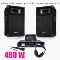 Ibiza sound - Pack Sono Dj300 Matrix Amplificateur 2x 240W + Hp