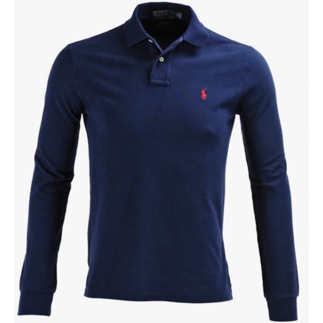 Ralph Lauren - Ralph Lauren Polo Bleu Marine Custom-fit Manches Longues  Taille L 145d88f1708d