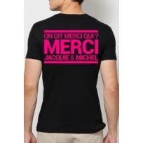 Dorcel - T-shirt Jacquie & Michel Noir