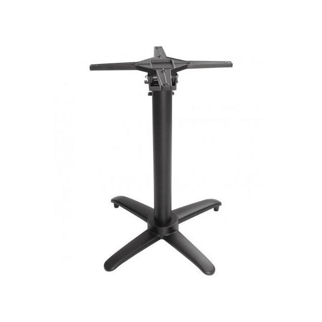 Materiel Chr Pro Pied de table carrée 700 mm basculant en aluminium noir - Bolero