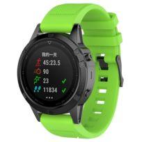 meilleur site web 11e59 63214 Bracelet en silicone twill remplacement de la bande de montre vert pour  votre Garmin Fenix5/Forerunner 935/Quatix5/Quatix5 Sapphire/Approach S60