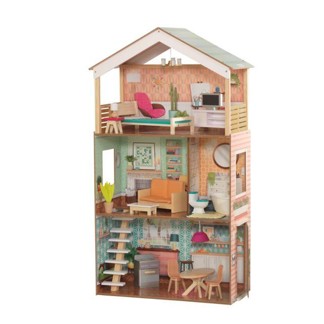 Kidkraft Maison De Poupees En Bois Dottie 65965 Pas Cher