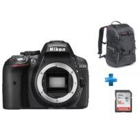 NIKON - reflex d5300 + Carte SDHC Ultra 16 Go + Sac à dos reflex- Manfrotto Trvael Backpack gris