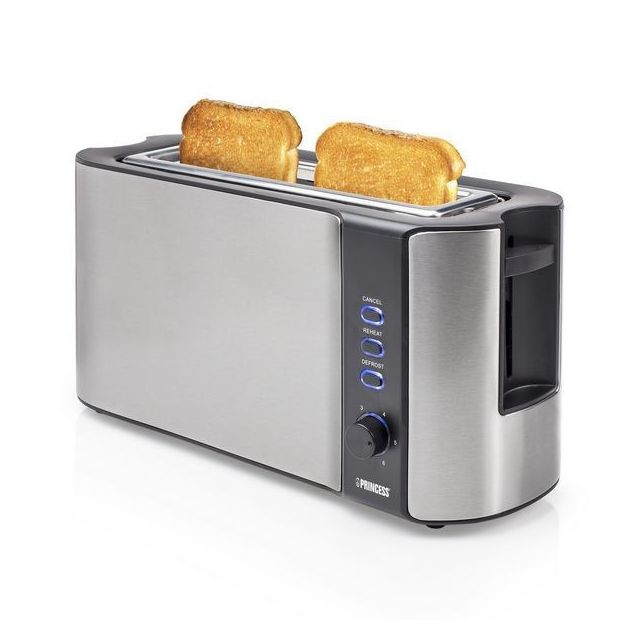 Totalcadeau Grille pain électrique à grande fente - Préparation grille