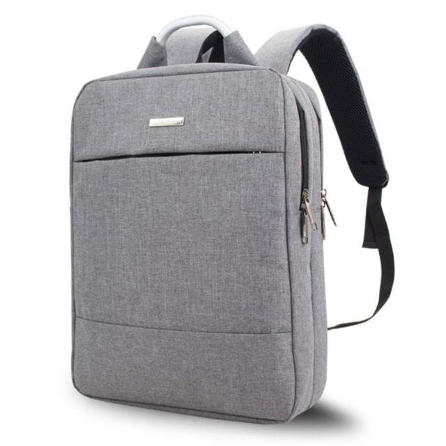 Sacoche ordinateur 15.6 pouces gris pour 15,6 et ci dessous Multi fonction Nylon Épaule Main Tablette Portable Sac À Dos Serviette