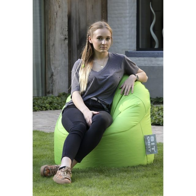 marque generique sit on it poufs pouf extra comfort anis vert pas cher achat vente poufs. Black Bedroom Furniture Sets. Home Design Ideas