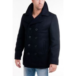 schott manteau caban 740 marine bleu pas cher achat. Black Bedroom Furniture Sets. Home Design Ideas