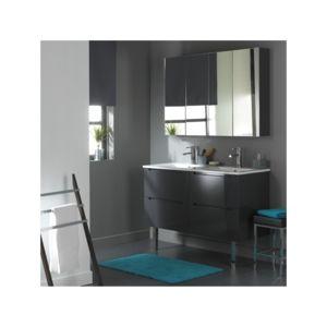 soldes planetebain soldes meuble de salle de bain double vasque gris laqu avec 4 tiroirs gris. Black Bedroom Furniture Sets. Home Design Ideas