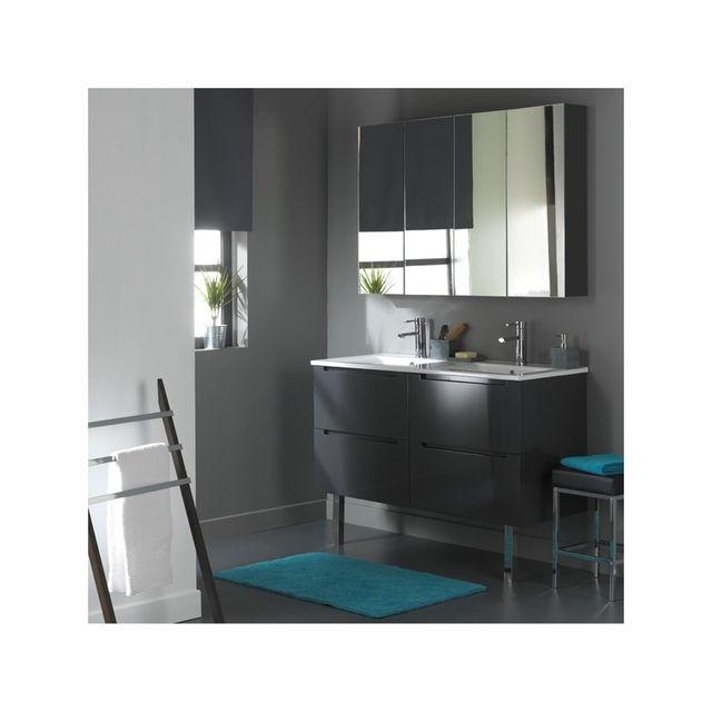 meuble de salle de bain 120 cm 4 tiroirs gris laque Résultat Supérieur 15 Incroyable Double Vasque Salle De Bain Pas Cher Photographie 2018 Hiw6