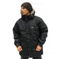 FoursQuare - Veste hiver Snowboard Ski jacket Black Pinstripre