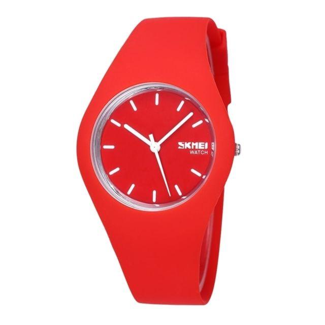 Wewoo - Montre Silicone rouge pour les étudiants 3ATM imperméable à l eau de  couleur 8fb80dfcd84