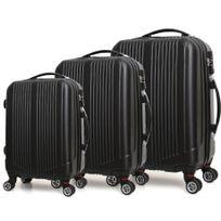 ROBBY - ensemble de 3 valises à roulettes noir - trotter case noir