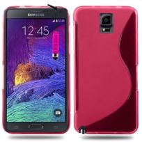 Vcomp - Housse Etui Coque souple silicone gel motif S-line pour Samsung Galaxy Note 4 Sm-n910F/ Note 4 Duos Dual Sim, N9100/ Note 4 CDMA, / N910C N910W8 N910V N910A N910T N910M + mini stylet - Rose
