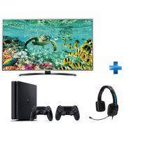 LG - TV LED 49'' 4K UHD Smart TV -49UH668V + Console PS4 1To + Manette Dualshock 4 Noire V2 + Casque TRITTON Kama