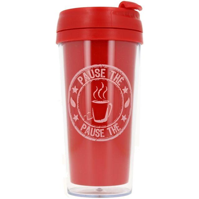 Promobo Mug Isotherme à transporter Américain Cup Of Tea Rouge