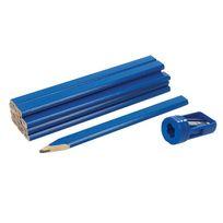 Silverline - Ensemble de crayons de menuisier et taille-crayon 13 pcs - 13 pcs