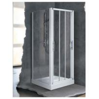 Novellini - Porte coulissante 3 panneaux transparent 90 à 96 cm Lunes P - Lunesp90-1D
