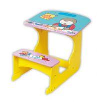 T'CHOUPI - Bureau avec banc d'écolier - Pupitre en bois pour enfant - Collection