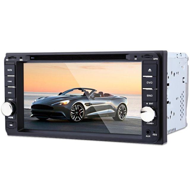 Auto-hightech Autoradio de voiture 7 pouces avec télécommande intelligente et Fonction caméra de recul Gps - Noir