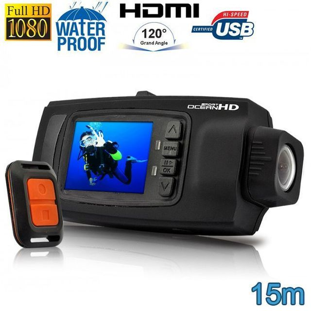 Yonis Caméra plongée caméra sport Full Hd 1080P étanche 15m Télécommande