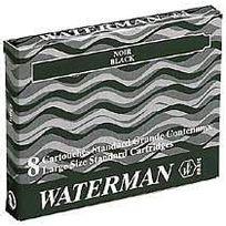 Waterman - Boîte de 8 cartouches noires grande contenance