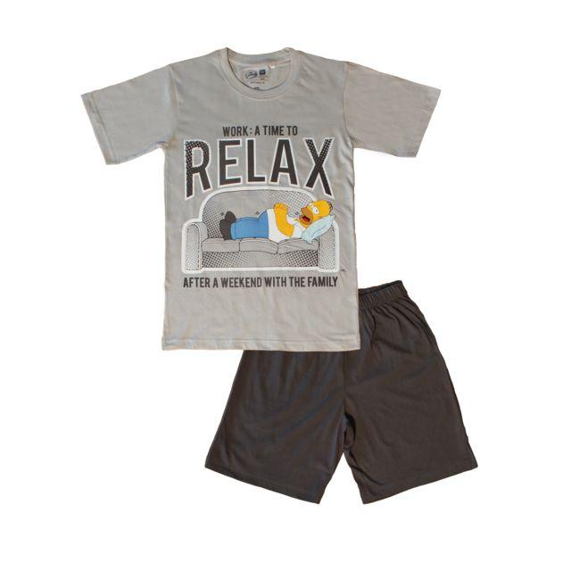 THE SIMPSONS Pyjama tee-shirt et short - Thème relax