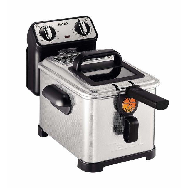 Tefal friteuse électrique Pro Inox 3L de 1,2KG 2300W acier inoxydable gris noir