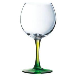 luminarc verre vin en verre forme ballon pied color transparent 28cl lot de 6 duos vert. Black Bedroom Furniture Sets. Home Design Ideas