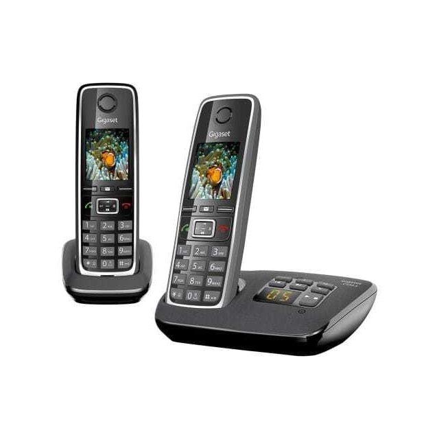 gigaset t l phone sans fil c530a duo noir pas cher achat vente t l phone fixe r pondeur. Black Bedroom Furniture Sets. Home Design Ideas