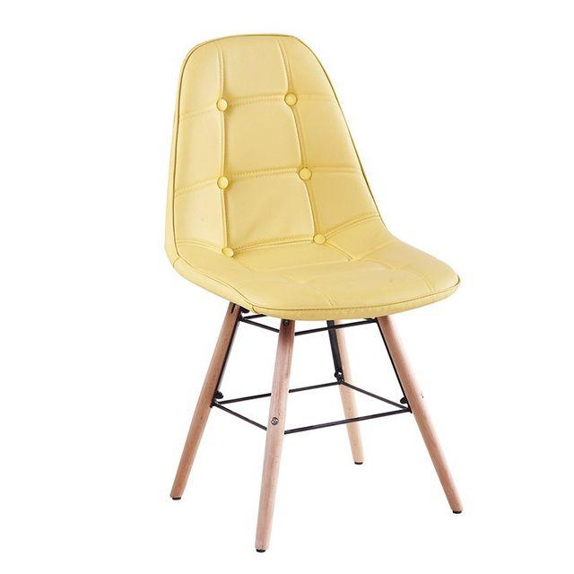 Tuoni Chaises en polyuréthane Pure Design Patty Jaune x4