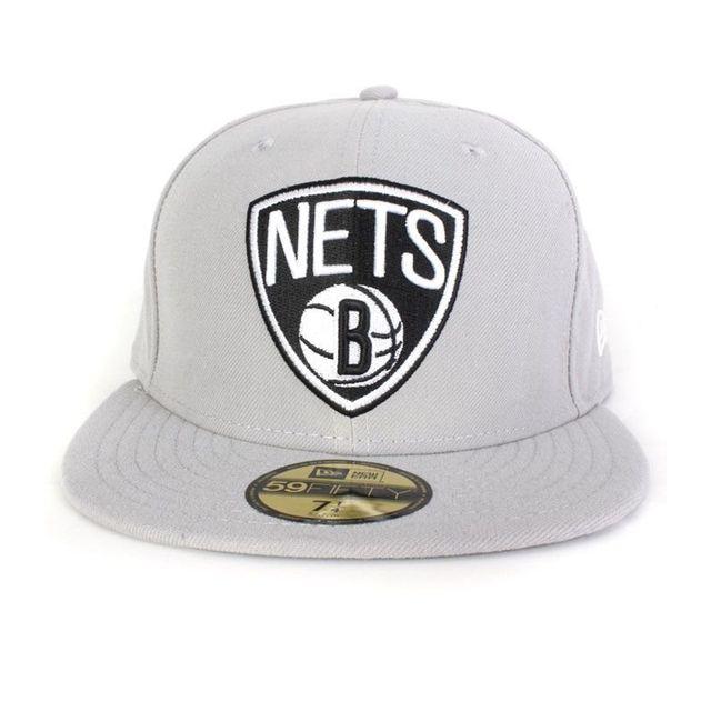 f82077d8ea70 Soldes New Era - Casquette Nets Team Basic Gris - pas cher Achat ...