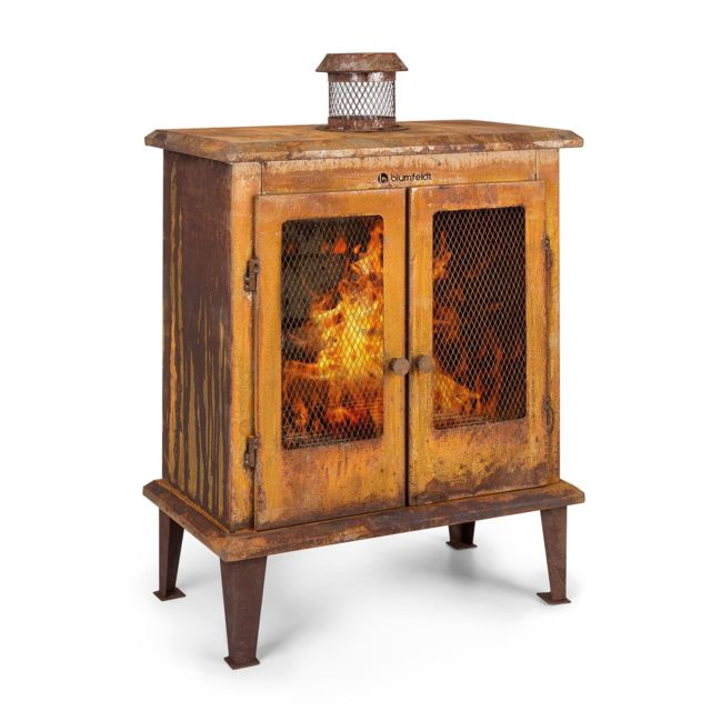 BLUMFELDT Flame Locker Braséro / cheminée décorative - foyer 58 x 30cm - Design acier vintage