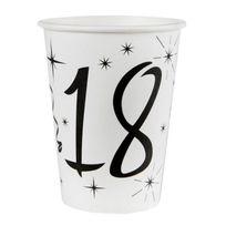 1001DECOTABLE - 10 Gobelets anniversaire 18ans