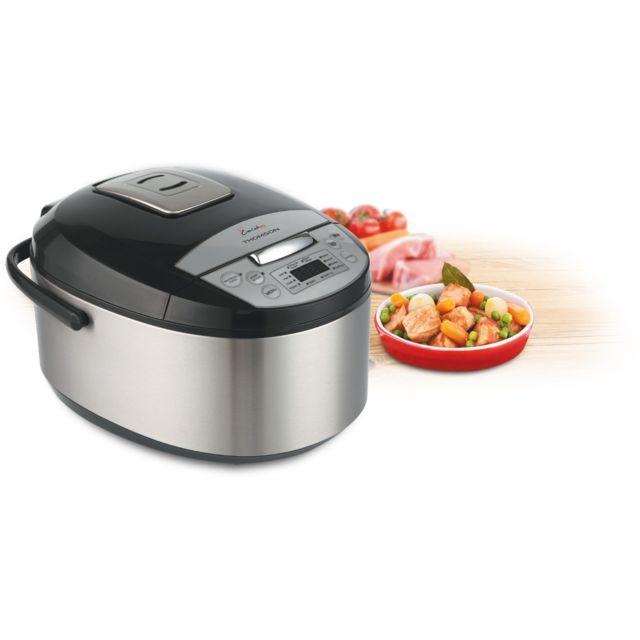 Thomson - Thmc45646 - Multicuiseur programmable Créa Cook Easy - capacité 5 litres - puissance 860 Watts - Coloris : noir et inox