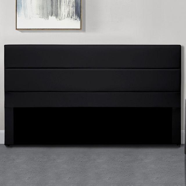 Meubler Design TÊTE De Lit Design Ava - Noir tête de lit - 140 cm