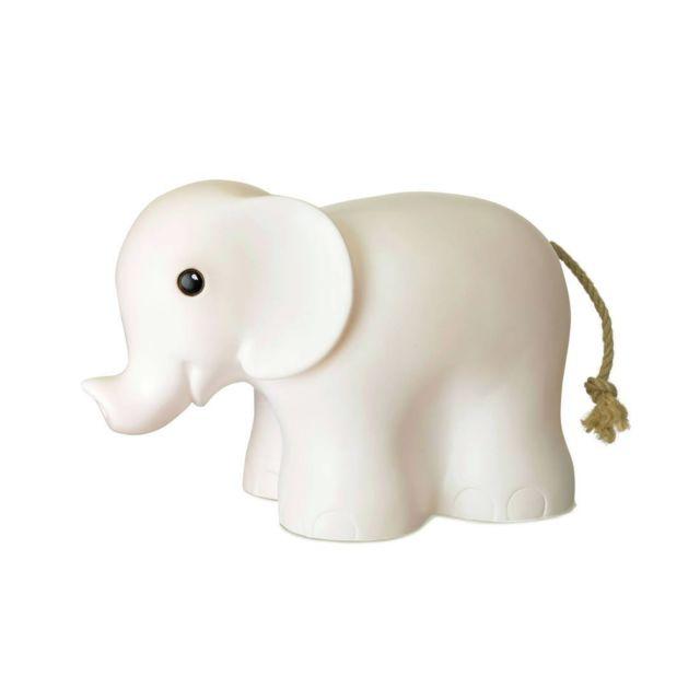 Egmont Toys - Elephant - Lampe à poser / Veilleuse Led Eléphant Blanc L29cm