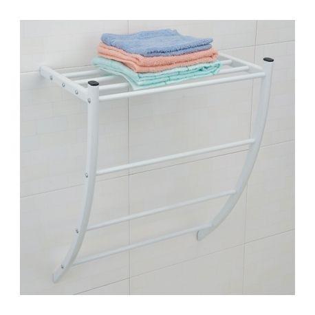 Msv porte serviettes mural blanc pas cher achat vente porte serviettes rueducommerce - Porte serviette mural pas cher ...