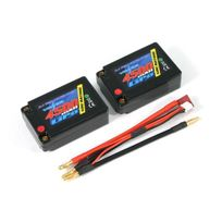 Voltz - Lipo Saddle Pack 2S 7.4V 4500mAh 50C