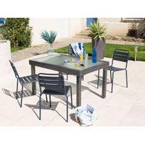 Soldes Table jardin aluminium verre - 2e démarque Table jardin ...