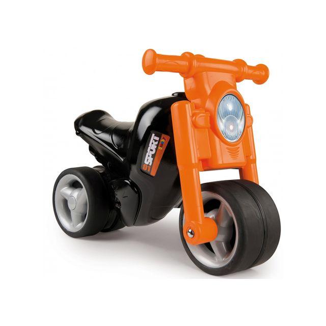 SMOBY - Trotteur bébé moto noire - pas cher
