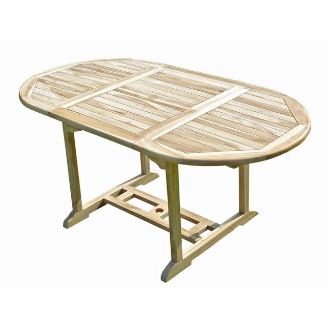 C&L Jardin Table de jardin en teck Solo 6/8 places